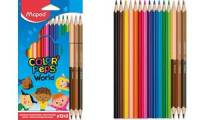 Maped Dreikant-Buntstift COLOR'PEPS World, 12+3 Kartonetui