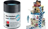 Marabu Servietten-Lack & Kleber, matt, 50 ml, im Glas