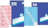 AVERY Zweckform Formularbuch Bonbuch, 105 x 198 mm, rosa