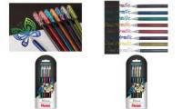 Pentel Hybrid Gel-Tintenroller Dual Pen, 4er Etui