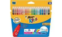 BIC KIDS Fasermaler Kid Couleur medium, 18er Kartonetui