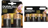DURACELL Alkaline Batterie PLUS POWER, Mono D, 2er Blister