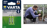 VARTA NiMH Akku Rechargeable Accu Solar, Micro (AAA/HR03)