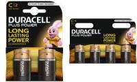 DURACELL Alkaline Batterie PLUS POWER, Baby C, 2er Blister