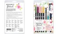 Tombow Watercoloring-Set Floral, 11-teilig