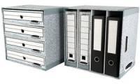 Fellowes BANKERS BOX SYSTEM Schreibtisch-Organizer, grau