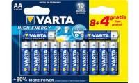 VARTA Alkaline Batterie LONGLIFE Power, Mignon AA, 8+4