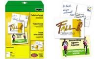 sigel PC-Postkarten, DIN A6, 185 g/qm, weiß, Spezialkarton