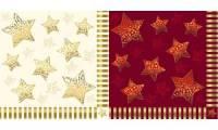 PAPSTAR Weihnachts-Motivservietten Sparkling Stars, creme