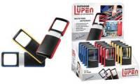 WEDO Outdoor-Rechtecklupe mit LED-Beleuchtung, 15er Display