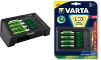 VARTA Ladegerät LCD SMART CHARGER, inkl. 4 Mignon AA Akkus