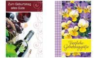 SUSY CARD Geburtstagskarte Stiefmütterchen