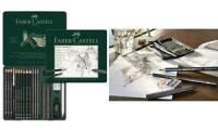 FABER-CASTELL PITT GRAPHITE Set medium, 19-teiliges Etui