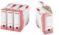 Esselte Archiv-Schachtel SPEEDBOX, DIN A4, weiß/rot,(B)80 mm