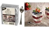 PAPSTAR Fingerfood-Löffel, silber, 50er