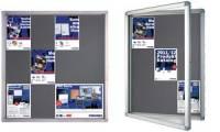 FRANKEN Schaukasten ECO für 4x DIN A4, Filz-Rückwand, grau