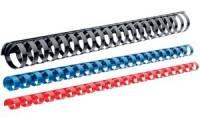 LEITZ Plastikbinderücken, DIN A4, 21 Ringe, 10 mm, schwarz