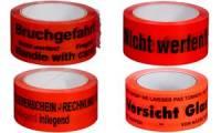 SMARTBOXPRO Signalklebeband Vorsicht Glas!, rot, aus PP