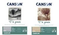 CANSON Zeichenpapierblock C à grain Couleur, ocker meliert