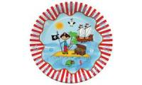 PAPSTAR Papp-Teller Pirate Island, Durchmesser: 230 mm