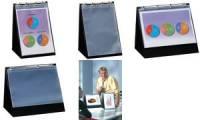 rillstab Tisch-Flipchart, A4 hoch, schwarz, inkl. 10 Hüllen