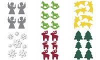 HERMA Weihnachts-Sticker DECOR Filz Weihnachtsstern, gelb