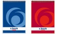 herlitz Spiralnotizblock x.book, DIN A7, 50 Blatt, kariert