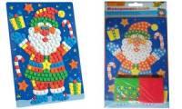 folia Moosgummi-Mosaik Weihnachtsmann, 402 Teile