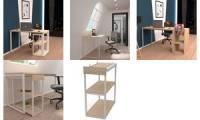 PAPERFLOW Schreibtisch easyHome LV12, weiß/eiche