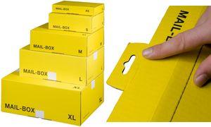 smartboxpro paket versandkarton mail box gr e l gelb 212151320 b robedarf. Black Bedroom Furniture Sets. Home Design Ideas