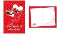 SUSY CARD Hochzeitskarte Konfetti Herzen