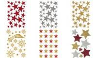 HERMA Weihnachts-Sticker MAGIC Sterne, glittery