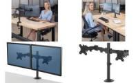 Fellowes TFT-/LCD-Doppel Monitorarm Reflex, schwarz