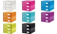 LEITZ Schubladenbox Click & Store WOW, 3 Schübe, weiß