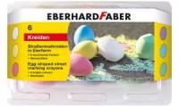 EBERHARD FABER Straßenmalkreide in Eierform, 6er Etui