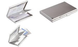 Durable Visitenkarten Etui Business Card Box Duo Mattsilber