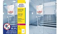 AVERY Zweckform Antimikrobielle Etiketten, 210x297 mm, weiß