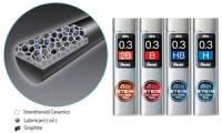 Pentel Druckbleistift-Feinmine AIN STEIN C273, Härtegrad: 2B