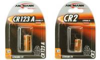 ANSMANN Lithium-Foto-Batterie CR123A, 3 Volt, 1er-Blister
