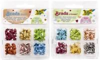 folia Musterbeutelklammern / Brads Rund, sortiert