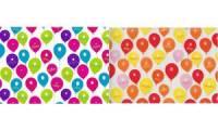 SUSY CARD Geschenkpapier Happy Balloons orange, auf Rolle
