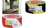 tesa Signal Markierungs- und Warnklebeband Premium, rot/weiß