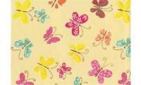 SUSY CARD Geschenkpapier Schmetterlinge gelb, auf Rolle