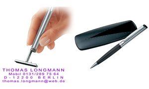 silber schwarz Heri Stempel-Kugelschreiber 6221