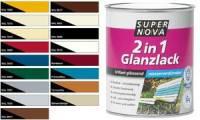 SUPER NOVA Glanzlack 2in1, silbergrau, 375 ml