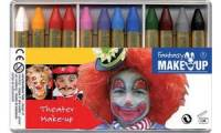 KREUL Schminkstifte-Set Fantasy Theater Make Up, 12 Farben