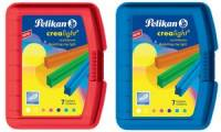 Pelikan Kinderknete Crealight 227/7, Box transparent-rot