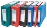 EXACOMPTA Archivbox mit Druckknopf, PP, 100 mm, blau